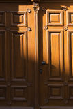 Brown wooden door Royalty Free Stock Image
