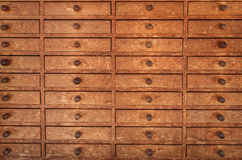 Brown Wooden Drawer Stock Photo