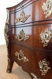 Brown wooden dresser. Royalty Free Stock Image