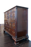 Brown wooden dresser. Photo of brown wooden dresser Royalty Free Stock Images