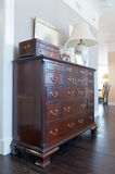 Brown wooden dresser. Royalty Free Stock Photos