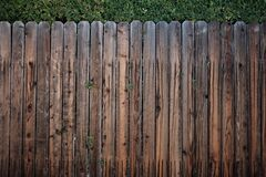 Brown Wooden Fence Stock Image