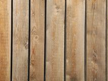 Brown wooden fence background on horizontal planks, nature wooden wall, vintage backdrop, Blur background Stock Photography