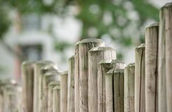 Brown Wooden Fence in Front Stock Image