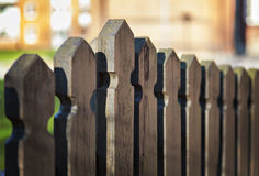 Brown wooden fence. Image of a brown wooden fence Stock Images