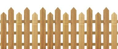 Brown wooden fence isolated on white background. Used for design Royalty Free Stock Photos