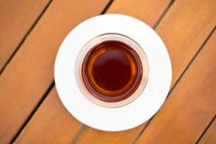 Brown wooden floors on the tea. The Brown wooden floors on the tea royalty free stock photos