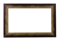 Brown wooden frame. Royalty Free Stock Images