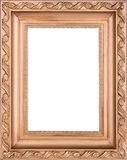 Brown wooden frame Stock Photography