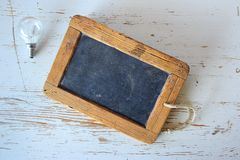 Brown Wooden Framed Chalkboard Royalty Free Stock Images