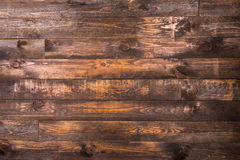 Brown wooden horizontal boards. Texture for the background. Horizontal frame Royalty Free Stock Photo