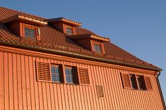 Brown wooden house Royalty Free Stock Photo