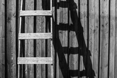 Brown Wooden Ladder Stock Images