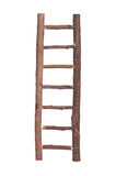 Brown wooden ladder isolated Royalty Free Stock Images