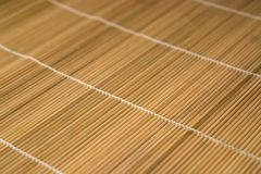 Brown wooden mat Stock Image