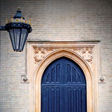 Brown wooden parliament in london old  door and marble antique Stock Photo