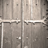 Brown wooden parliament in london old  door and marble antique Stock Image