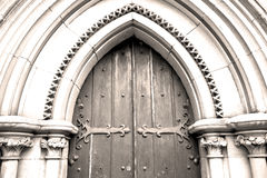 Brown wooden    parliament in london old  door and marble antique Royalty Free Stock Image