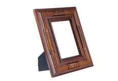 Brown wooden photo frame Royalty Free Stock Photos