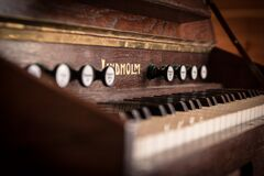 Brown Wooden Piano Royalty Free Stock Image