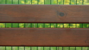 Brown wooden planks of bench with blank copy space. Royalty Free Stock Image