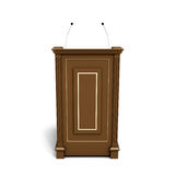Brown wooden podium Royalty Free Stock Photos