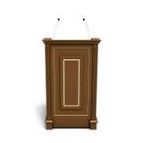 Brown wooden podium Royalty Free Stock Photos