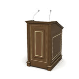 Brown wooden podium Stock Photography
