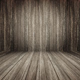 Brown wooden room background stock image