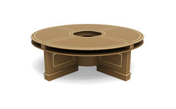 Brown wooden round table Royalty Free Stock Photo