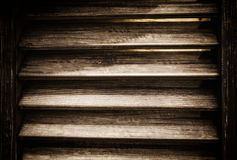Brown wooden shutter texture background Stock Images