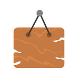 Brown wooden signboard vector. Royalty Free Stock Image