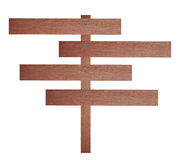 Brown wooden signboard. Stock Photography
