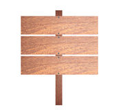 Brown wooden signboard. Royalty Free Stock Photography