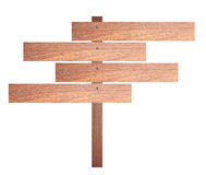Brown wooden signboard. Stock Image