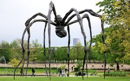 Brown Wooden Spider-formed Statue Photography Royalty Free Stock Image