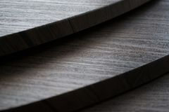 Brown Wooden Stair stock photo