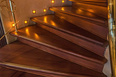 Brown wooden staircase Stock Image
