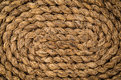 Brown wooden straw detailed texture Background. Circular royalty free stock image
