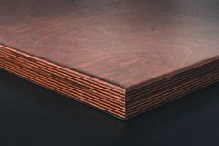 Brown Wooden Table stock image
