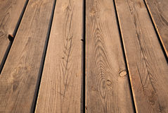 Brown wooden table background texture with perspective Royalty Free Stock Images