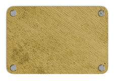 Brown wooden tablet Royalty Free Stock Images