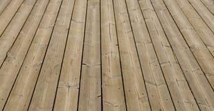 Brown wooden terrace floor Stock Image