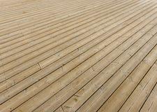 Brown wooden terrace floor Stock Photos