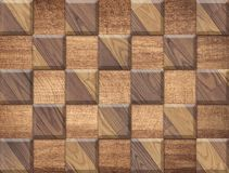 Brown wooden texture, pattern from square parquet Royalty Free Stock Image