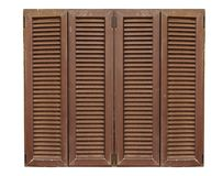 Brown wooden texture window frame on a white background royalty free stock photography