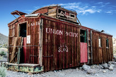 Brown Wooden Union Pacific House Stock Image