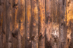 Brown wooden vertical boards. Texture for the background. Horizontal frame Royalty Free Stock Photo