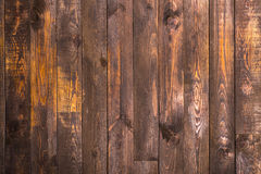 Brown wooden vertical boards. Texture for the background. Horizontal frame Stock Photo