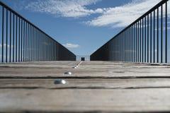 Brown Wooden Walkway Stock Image